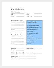 Car-Invoice-Template-Free