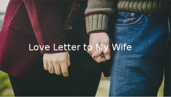 7  love letter templates to my wife
