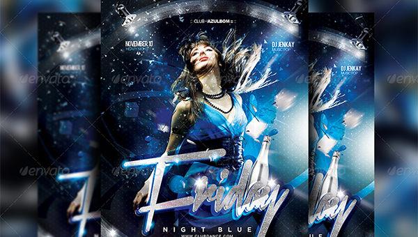 blue flyer templates