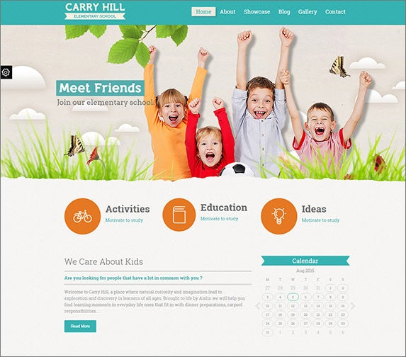 responsive elementary school wordpress theme1