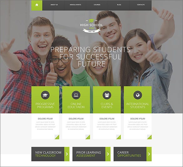 high school promotion wordpress theme1