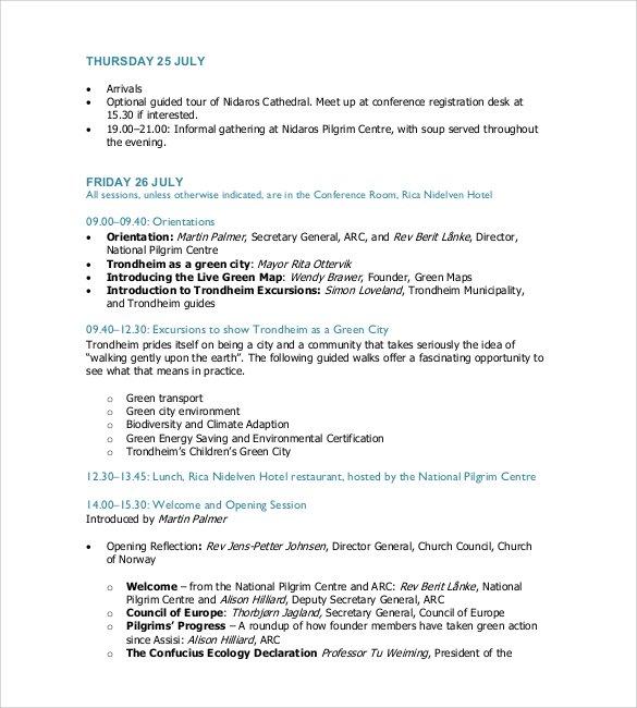 simple timetable agenda1