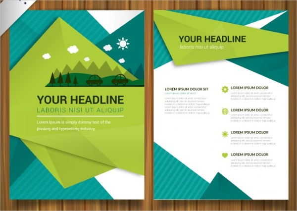 Environmental Brochure Templates Free PDS AI Vector EPS - Brochures templates free download