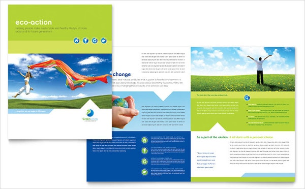 green living recycling brochure template