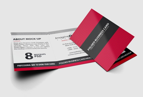 Folded Business Card Set