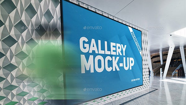 gallery poster templates and mockups