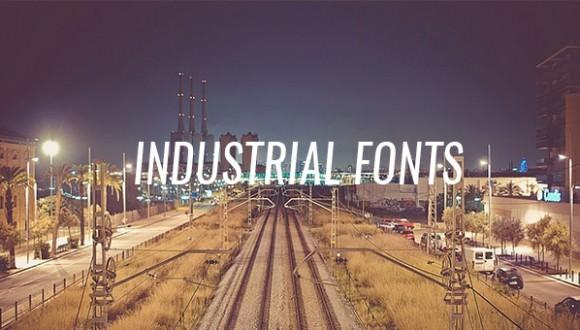 industrial fonts