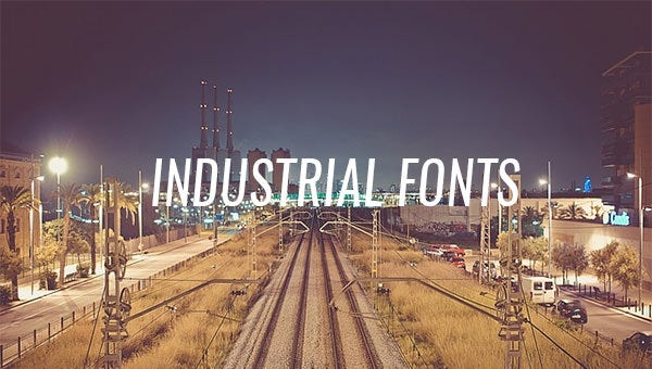 industrial fonts