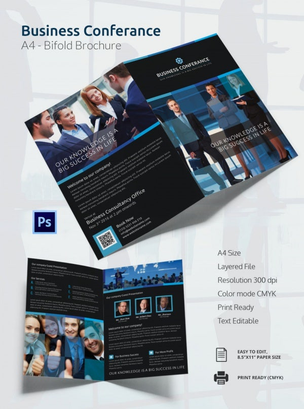 Business Conference A4 Bi Fold Brochure