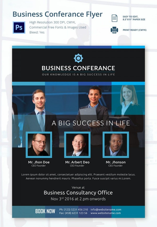 Editable Business Conference Flyer