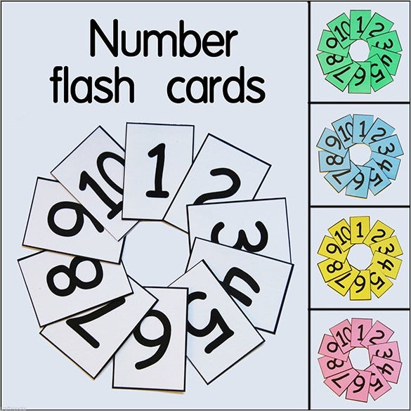 1 10 educational homeschool flash card template
