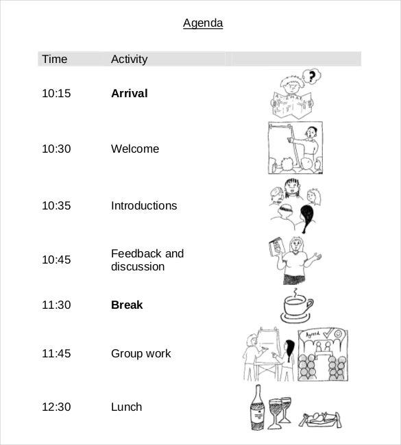 simple free easy agenda11