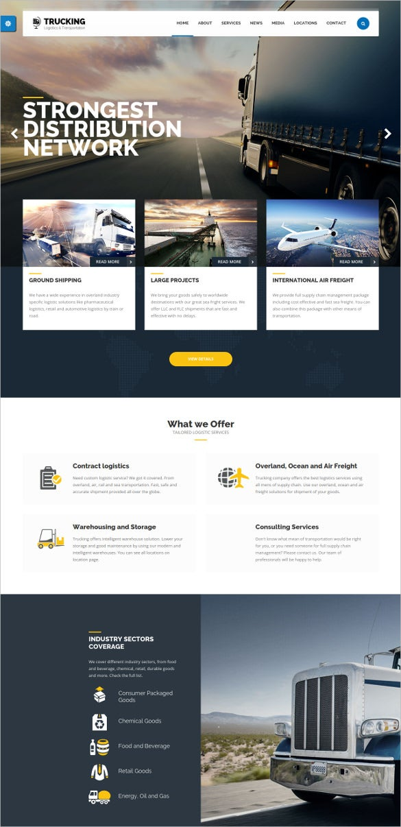 modern trucking transportation html template1