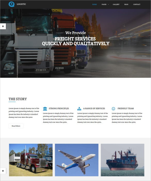 full screen slides transportation companies template