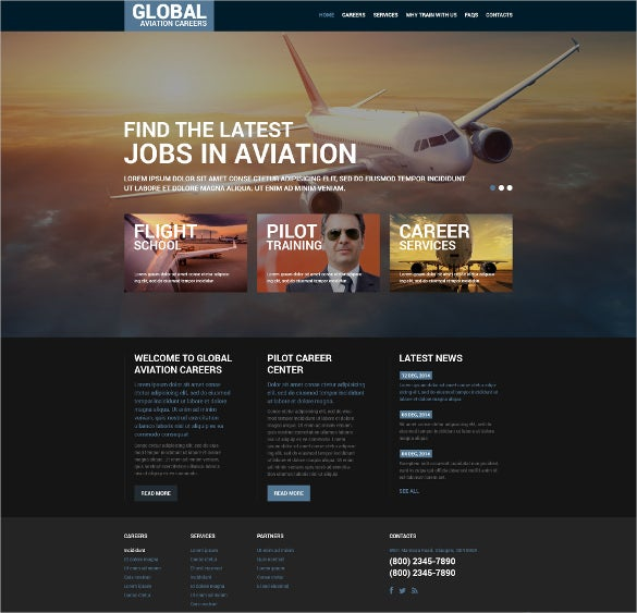 perfect airline transportation website template1