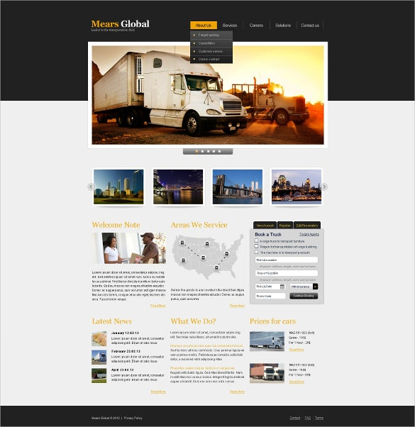 global transportation website template1