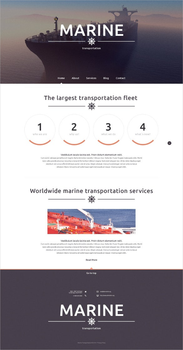 maritime transportation responsive website template1