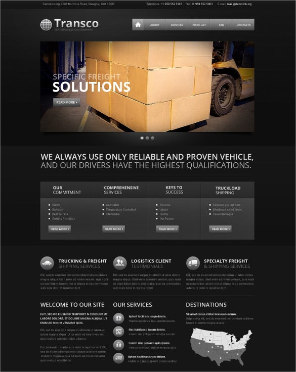 transportation responsive website template1
