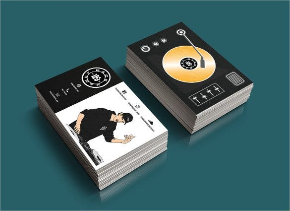 25 dj business cards free download free premium templates best dj business card flashek Images