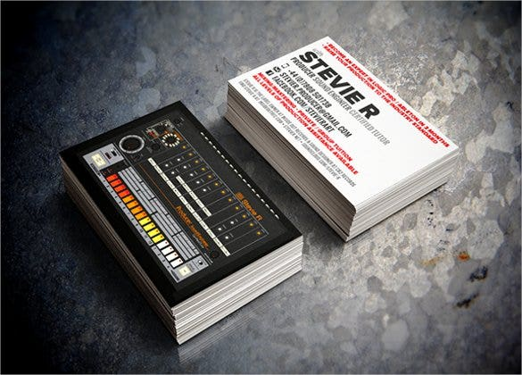 dj business card design1
