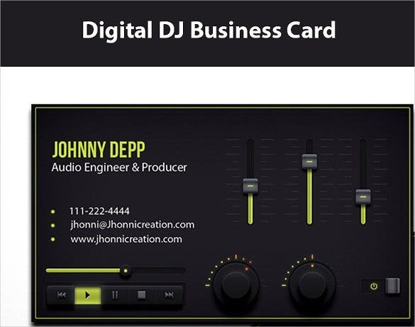 DJ Business Cards Free Download Free Premium Templates - Free dj business card template