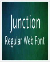 Junction Regular Web Font