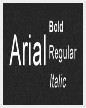 Arial Font