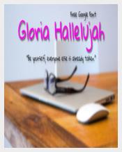 Gloria Hallelujah Google Font
