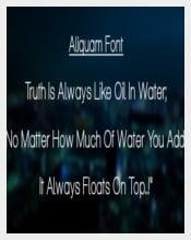 Aliquam iOS Free Font