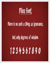 Yikes Ios Free Font