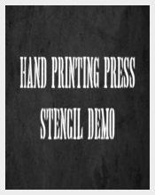 Hand Printing Press Font