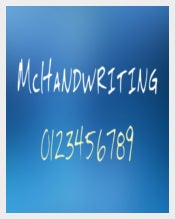 McHandwriting Print Font