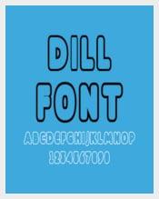 Dill Font