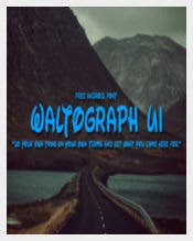 Waltograph Font Download