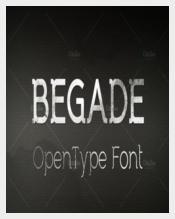 Begade OpenType Font