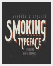 Smoking Typeface Font Premium Download