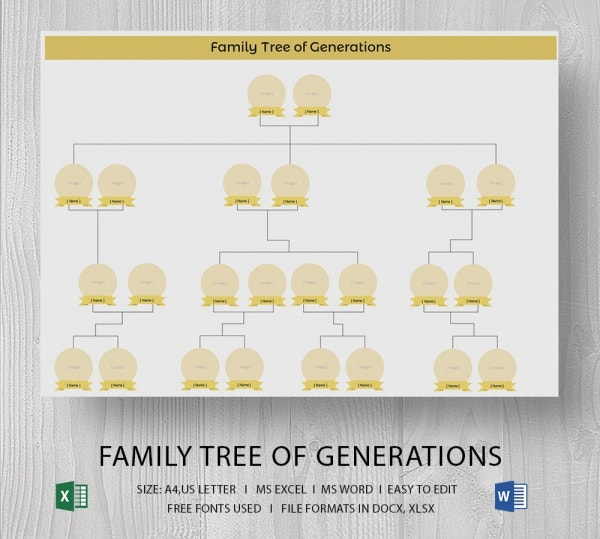 Blank family tree template 32 free word pdf documents for Family tree templates with siblings