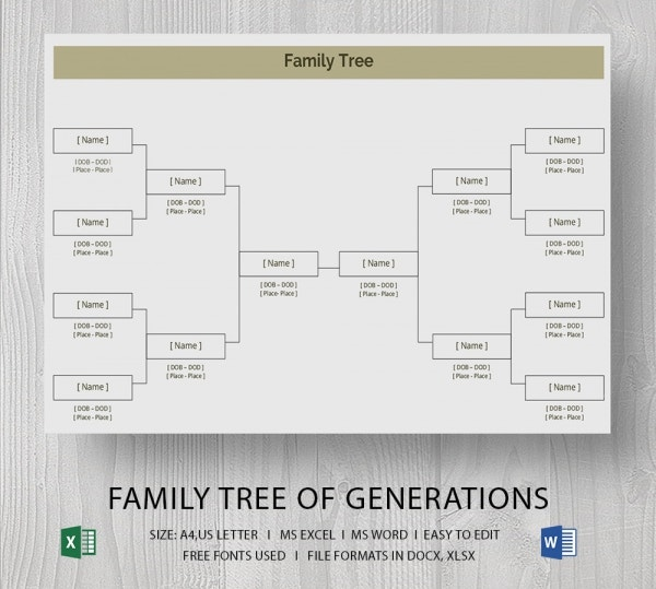 Blank Family Tree Template 31 Free Word PDF Documents Download – Family Tree Template in Word