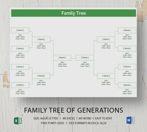 microsoft word family tree template