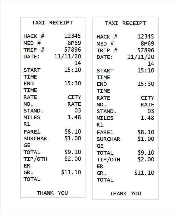 Receipt Template 90 Free Printable Word Excel PDF Format – Itemized Receipt Template