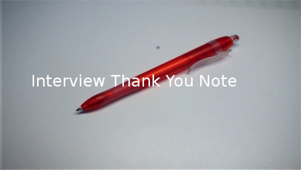 interviewthankyounote