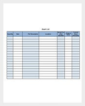 Asset-List-Template-Free-Download