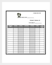 Attendance-List-Template-Word