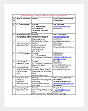 Business-Email-List-Template