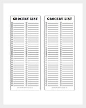 Sample-Grocery-List-Template
