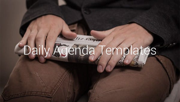 daily agenda templates1