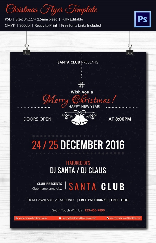 Premium Xmas Flyer Template Download