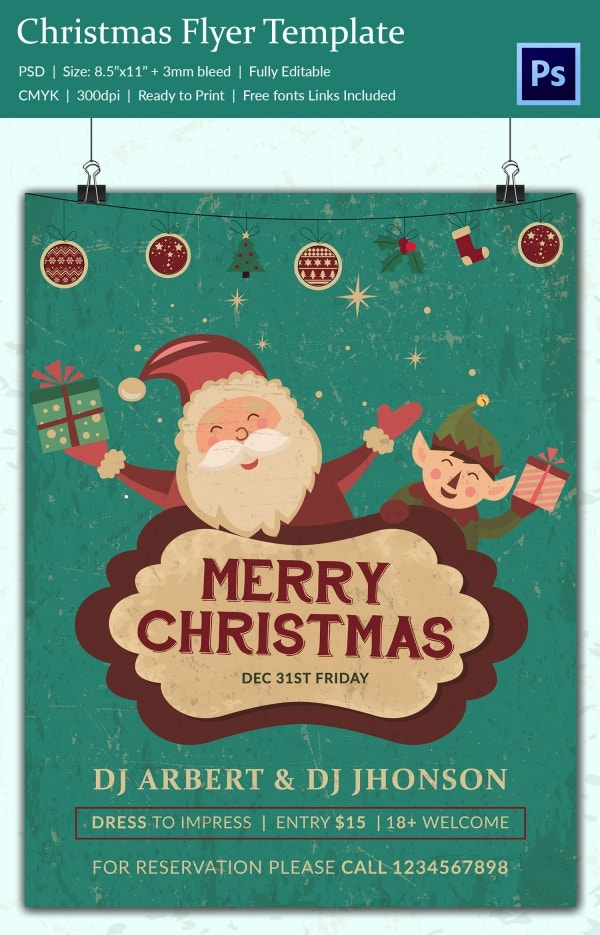 60+ Christmas Flyer Templates - Free PSD, AI, Illustrator, Doc