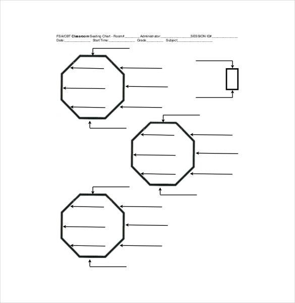 Classroom Seating Chart Template 14 Examples in PDF Word – Seating Chart Templates