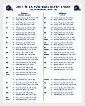 football depth chart template excel format